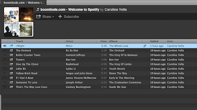 boomitude Spotify Playlist
